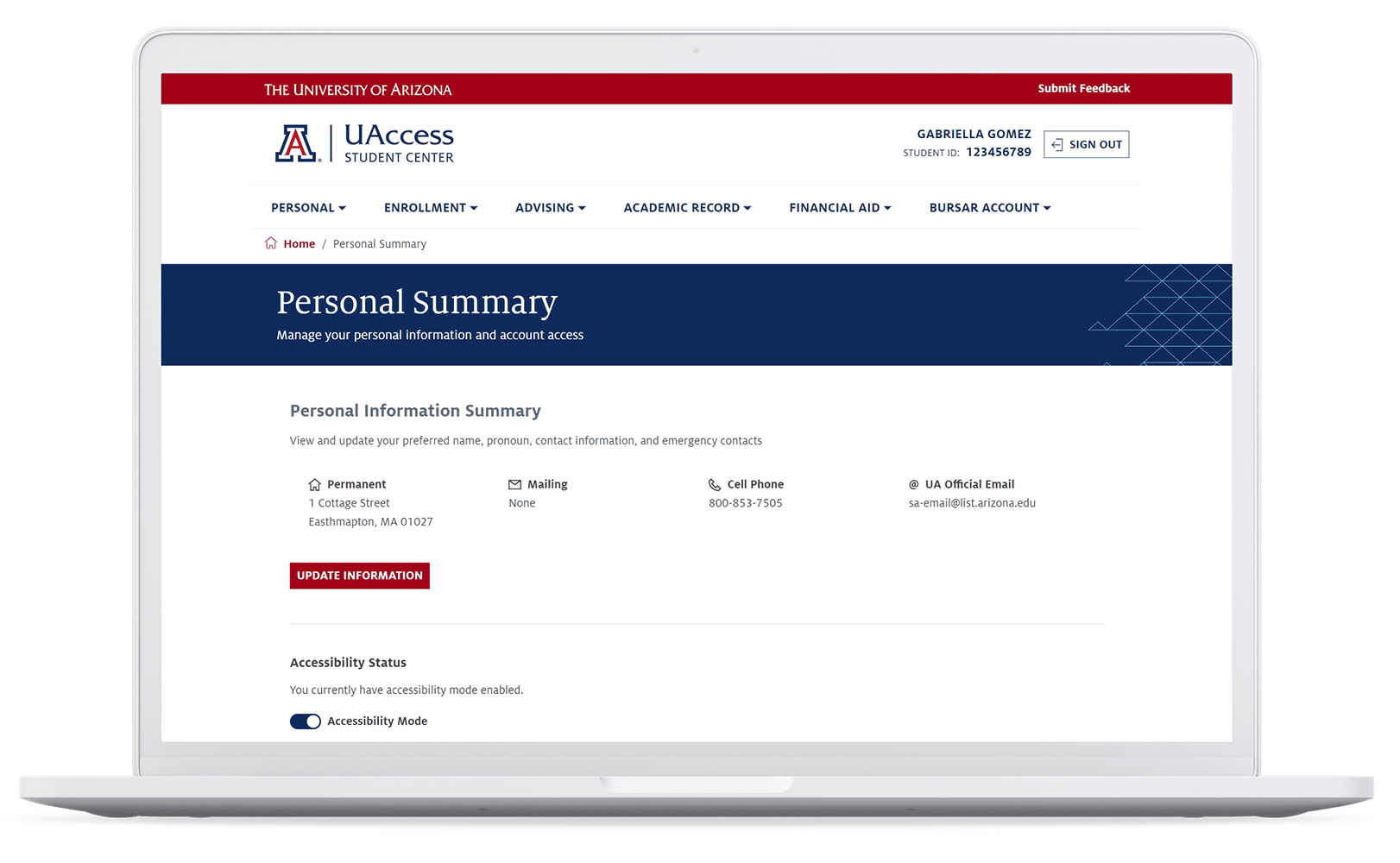 University of Arizona Digital Student Experience Portal