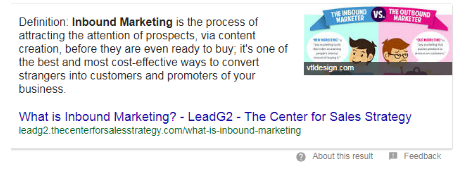 What is inbound marketing featured snippet