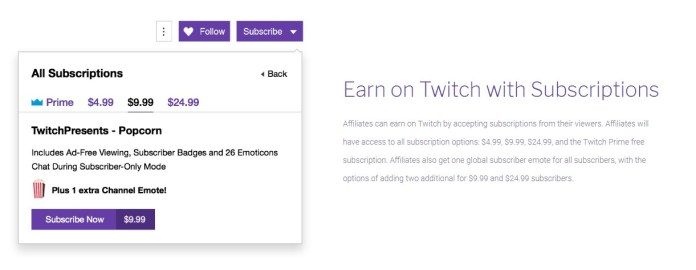 Twitch Subscriptions for Influencers