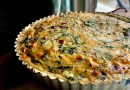 Farm to Table: Three Cheese Kale and Bacon Quiche with a  Side of Roasted Carrots and Sauteed Radishes in Brown Butter