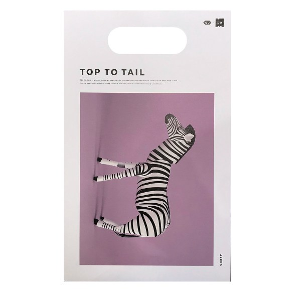Small paper animal zebre
