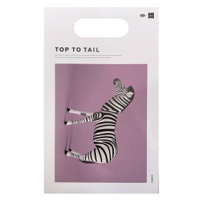 Small paper animal zebre