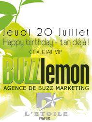 Invitation Soiree Anniversaire Buzz lemon