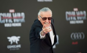 "TOPSHOT - Executive producer Stan Lee attends the Disney Premiere of ""Captain America: Civil War "" at El Capitan Theater, in Hollywood, California, on April 12, 2016. / AFP / VALERIE MACON (Photo credit should read VALERIE MACON/AFP/Getty Images)"