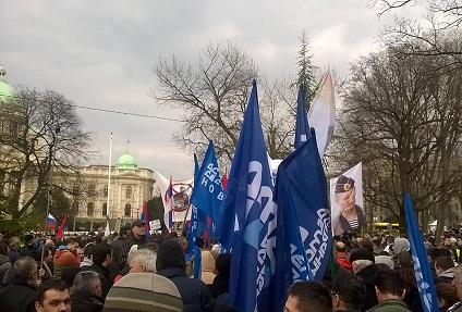 АнтиНАТО-митинг в Сербии