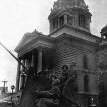 Советские зенитчики отражают налет на Белград