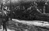 Советская зенитная установка американского производства М-16 в пригороде Белграда Топчидер.