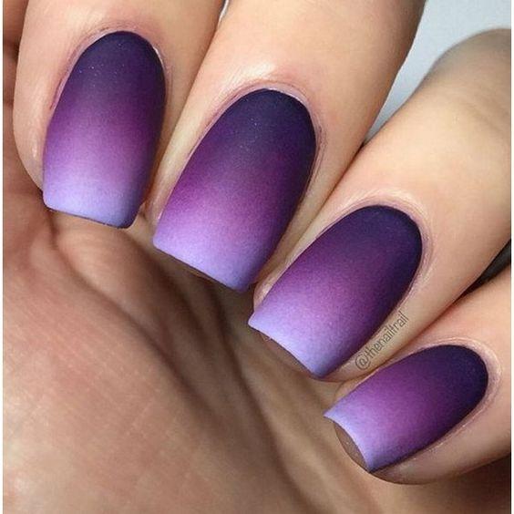 матовые ногти дизайн 2