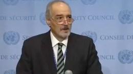 Syrischer UN-Botschafter nennt vor Sicherheitsrat Namen der NATO-Offiziere und Agenten, Screenshot YouTube
