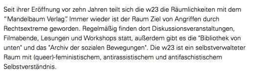 Screenshot der Aussendung: http://www.ots.at/presseaussendung/OTS_20170104_OTS0027/erneut-angriff-durch-rechtsextreme-auf-kulturverein-w23