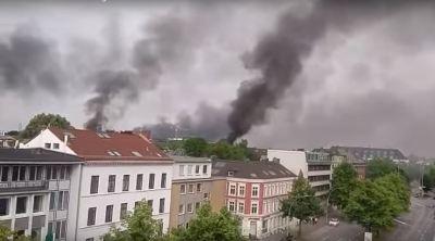 G20: Rauch über Hamburg