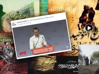 Ausschnitte aus dem von Levent Arikan verbreiteten Djihad-Film. Ansonsten teilt er gerne Inhalte der amtierenden SPÖ-Kanzler.