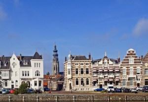 Middelburg vom Kanal mit Blick auf langen Jan