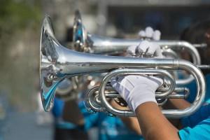 Trompeten einer Big Band auf Nachsommerfestival Middelburg