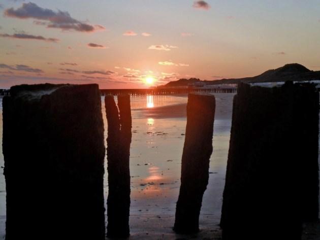 Sonnenuntergang am Strand von Zoutelande