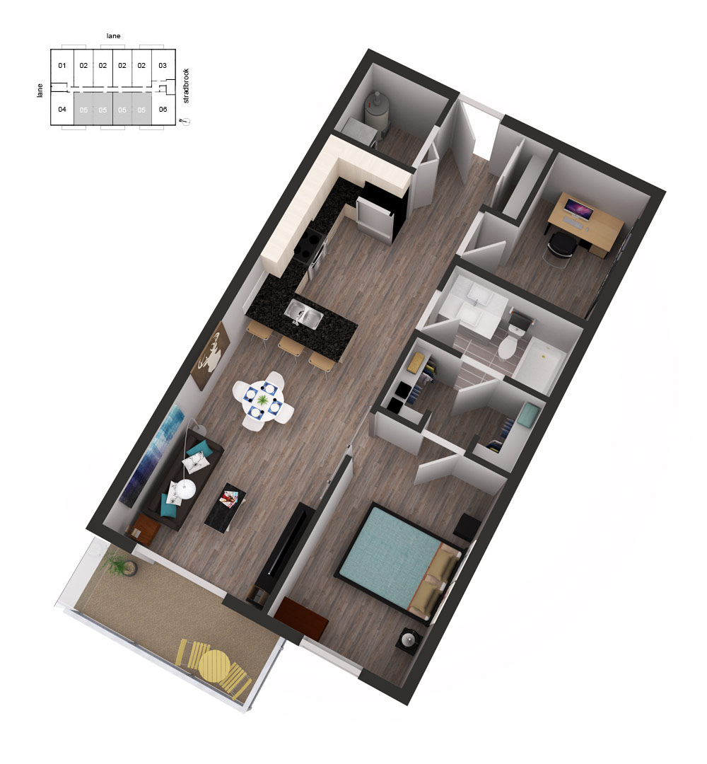 3D Floor Plans Unit