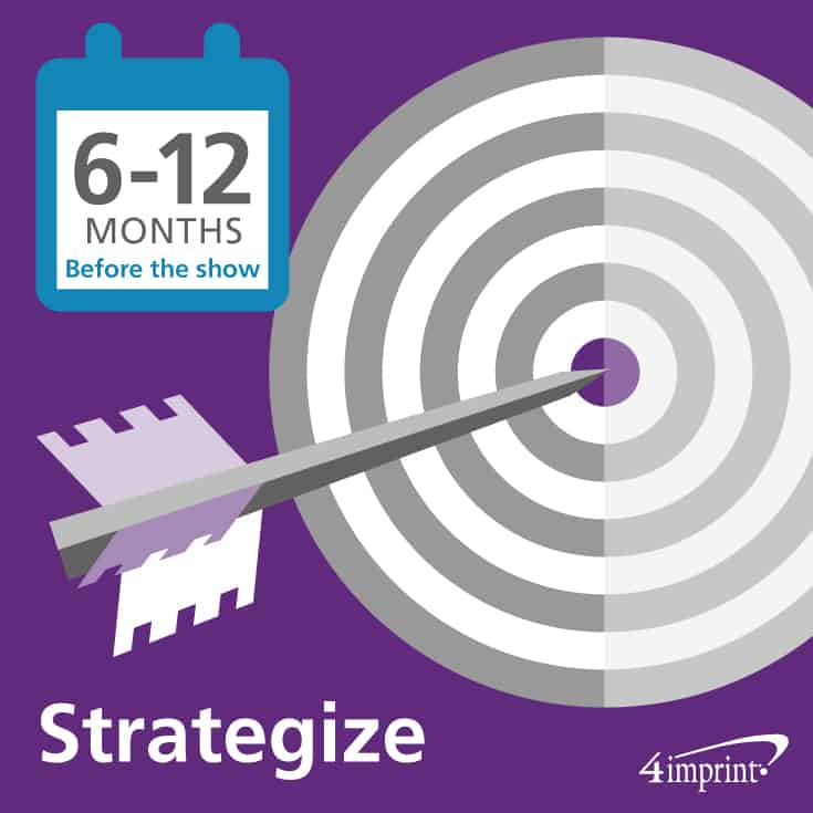 Strategize 6 to 12 months before the show as part of your trade show planning.