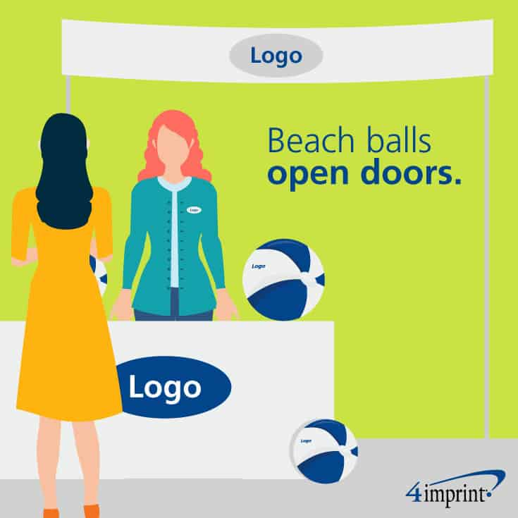 Beach balls open doors: How one organization used promotional items to introduce its brand story.