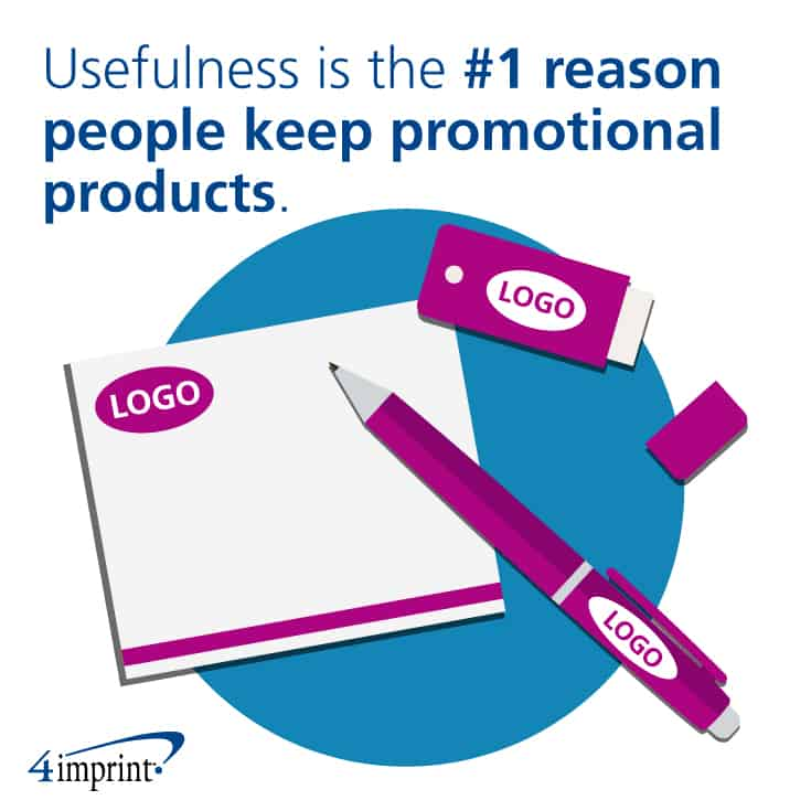 Usefulness is the No.1 reason people keep promotional products.