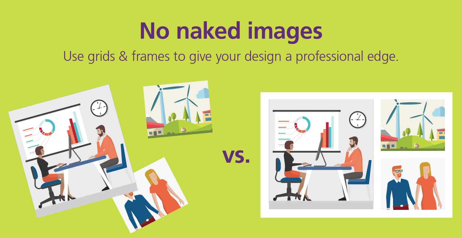 Graphic Design Tips: Use grids and frames
