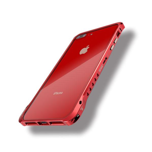 iPhone8プラスにエッジラインのレッド