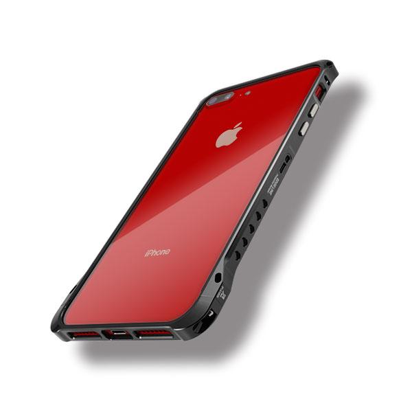 iPhone8プラスにエッジラインのブラック