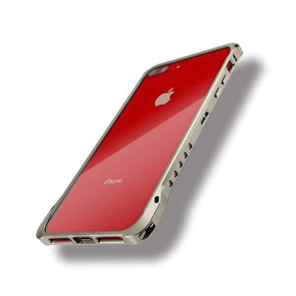 iPhone8プラスにエッジラインのシャンパンゴールド