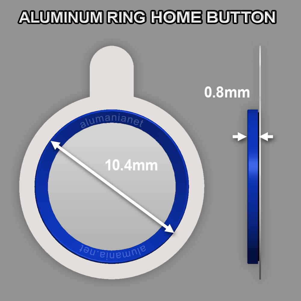 アルミリングホームボタンシールの外径サイズ