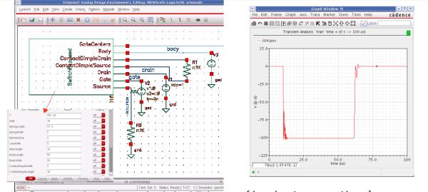 Simulating MEMS Relay as logic gate