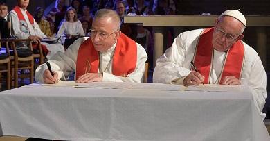 Luteráni akatolíci chtějí usilovat ojednotu