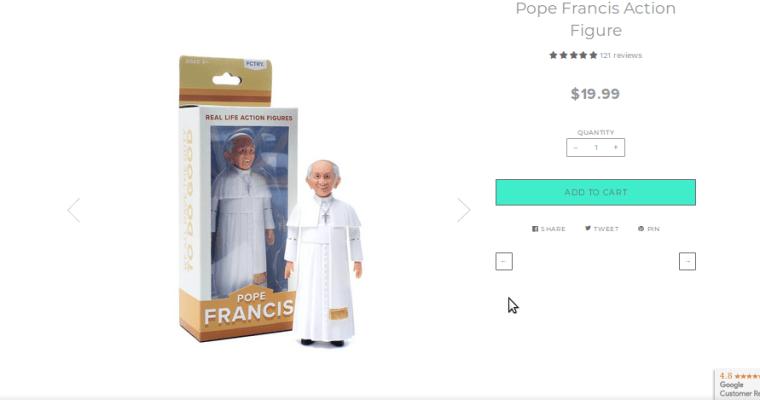 Pápež František ako akčná postavička