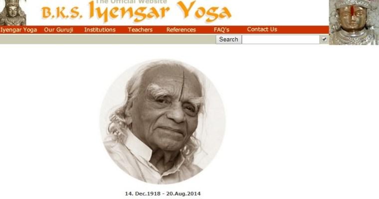 Guru Iyengar by oslavil sté narozeniny