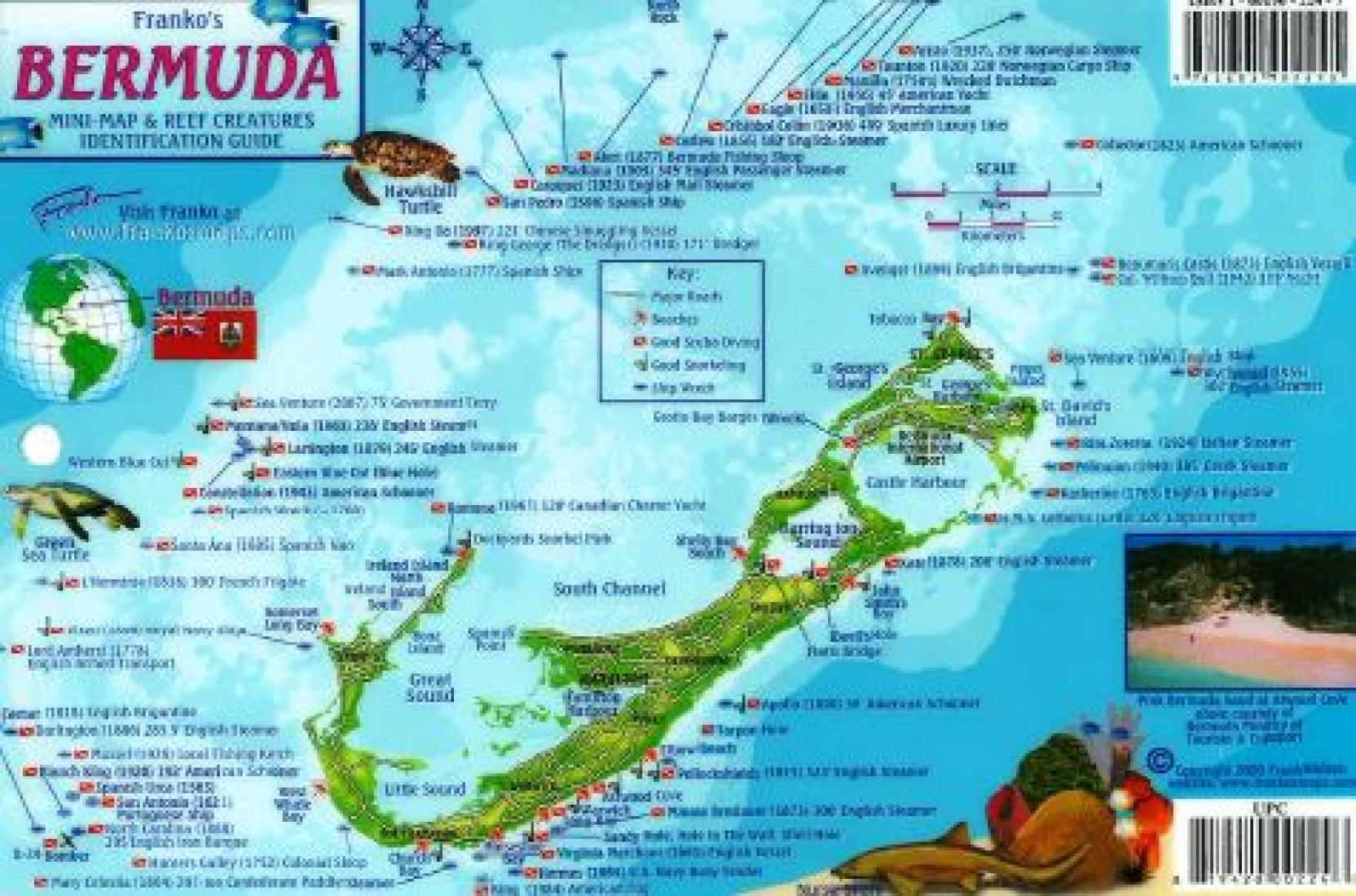 Map Us Including Bermuda