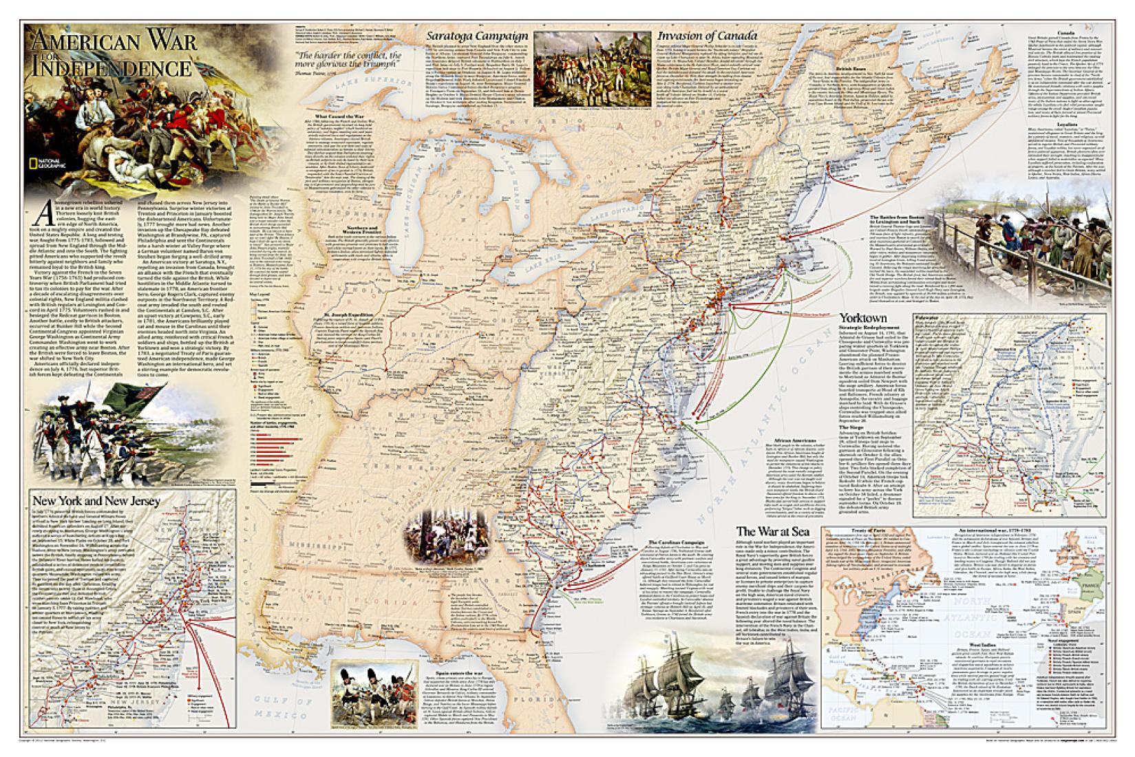 Battles Of The Revolutionary War And War Of 2 Sided