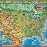 Dino S Illustrated Map Of The Usa By Dino Maps