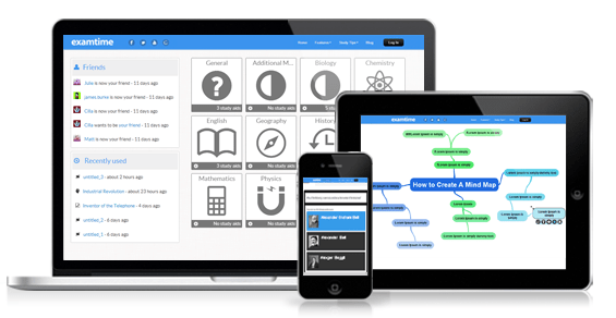 Free educational apps for iPhone, iPad and Android from ExamTime