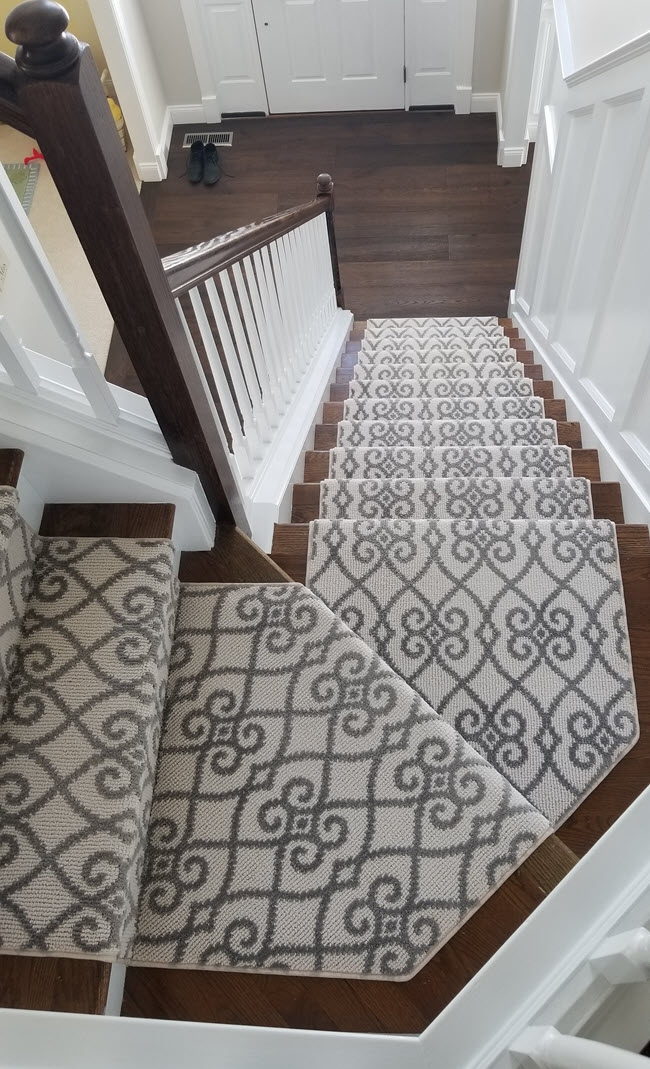 What Is The Best Carpet For Stairs | Best Kind Of Carpet For Stairs | Stairway | Hardwood | Grey | Stair Runners | Herringbone