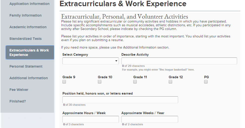 extra curricular activities on resumes template