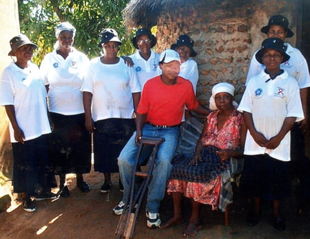Members of the Home Based Care Group at Jeppes Reef