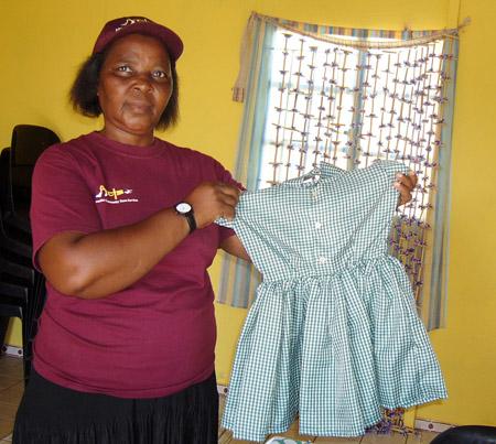 Busi Vilakazi with school uniform