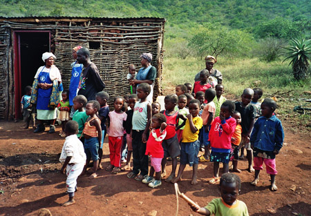 Kinderspeisung in Swaziland