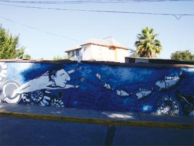 智利漁村因鮭魚而富也因鮭魚而亡(智利街頭)。