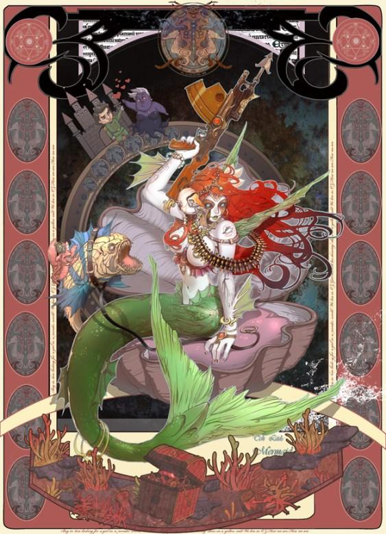 小美人魚與變種魚軍團整裝待發,即將發動反擊!「好個烏蘇拉,取走我的聲音又想對我的王子做什麼?」