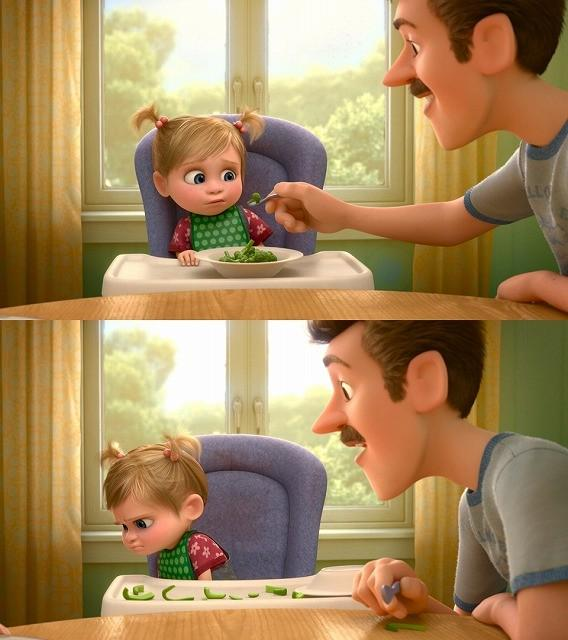 左為原版(綠花椰菜);右為日版(青椒) (圖片來源:Pixar)
