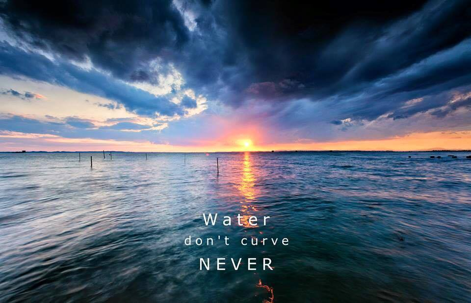 water-never-curves