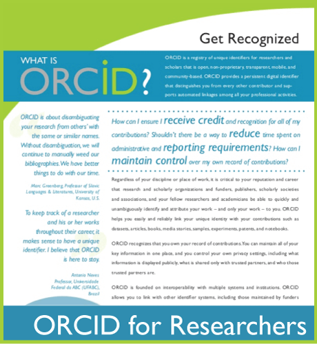 ORCID Flier for Researchers