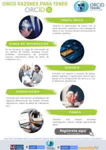 ORCID 콜롬비아 인포그래픽