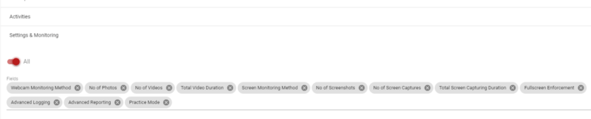 Filtering for Test analytics reporting in Test Invite exam software