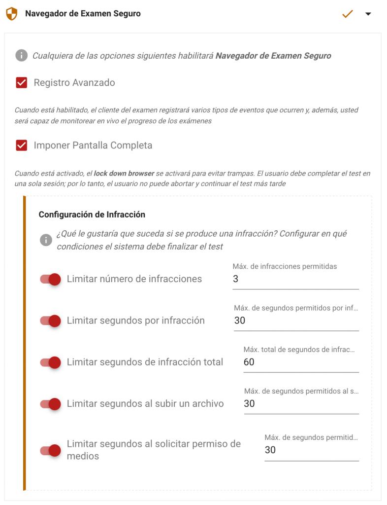 navegador de examen seguro testinvite