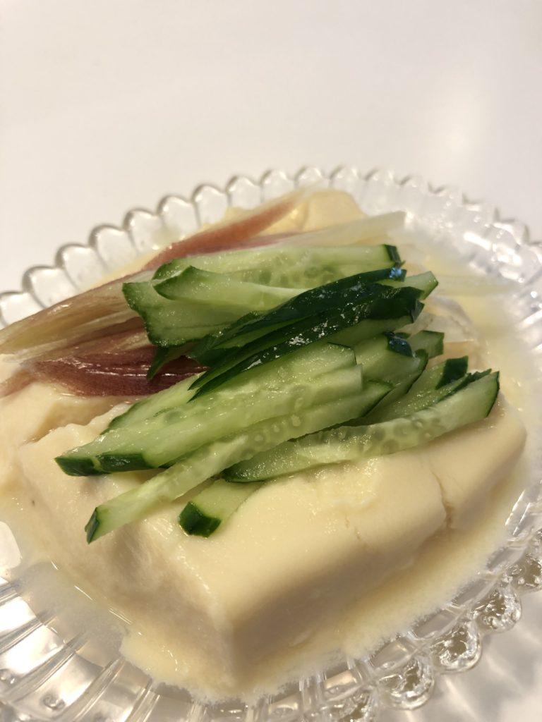 ひよこ豆で豆腐作り